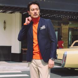 UNDERCROXX 時尚氣質男士西裝套裝兩粒單排扣外套+西褲 5281