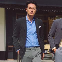 UNDERCROXX 时尚气质男士西装套装两粒单排扣外套+西裤 5288