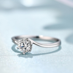 18K金镶钻石雪花系列戒指