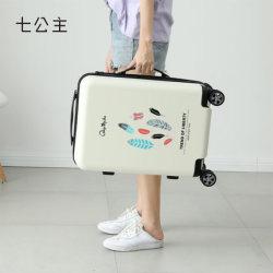 七公主行李箱女小清新万向轮拉杆箱个性插画旅行箱男女登机箱