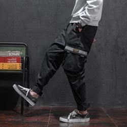 昊社 裤子男士休闲裤运动工装裤韩版潮流青少年学生哈伦裤小脚铅笔长裤  726