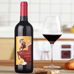 西班牙弗拉明戈干红葡萄酒 2015 The 8 Dancer  750ML酒体强壮和谐可口且优雅
