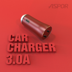 PINSA 品薩 車載充電器 迷你小巧美觀3.4A雙口快充耐溫防摔