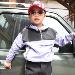 小班尼 男童梭織連帽套頭衫 T10182