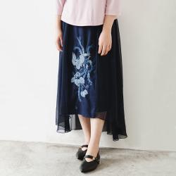 楚馨 绣花半身裙 19389