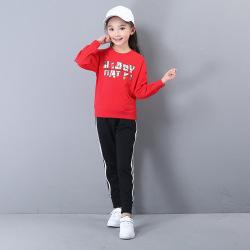 秋冬季新款女士儿童休闲卫衣 套头加厚保暖童装卫衣现货批发