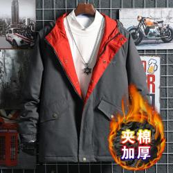 昊社 2019秋冬新款夹棉加厚潮流时尚个性拼接卫衣  5689