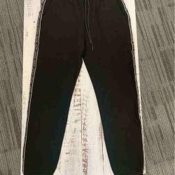 秋季新款男士韩版潮牌百搭休闲裤修身简约纯色松紧腰黑色小脚裤潮 19AWK158