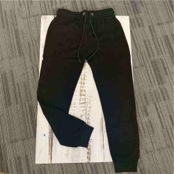 秋季新款男青春流行黑色简约纯色收脚松紧腰慢跑裤休闲长裤潮 19AWK166