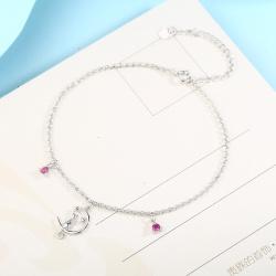诗宝妮 月亮上の猫项链手链耳钉耳环4件套  SEKF-028 4件-2-7-5-8