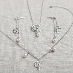 诗宝妮 月亮上の猫项链手链耳环3件套 SEKF-028   3件-1-6-9