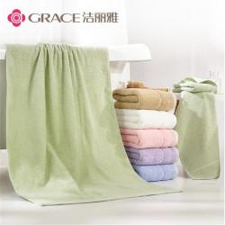 洁丽雅纯棉加厚大浴巾全棉儿童成人浴巾柔软吸水素色 2118