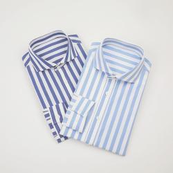 UNDERCROXX 2019新款时尚气质男士条纹纹棉衬衫 6280