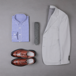 UNDERCROXX 2020新款时尚气质男士格子纹棉衬衫 6271