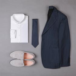 UNDERCROXX 2019新款時尚氣質男士純色紋棉襯衫 6270
