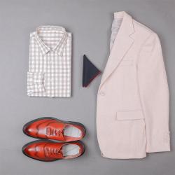 UNDERCROXX 2020新款时尚气质男士格子纹棉衬衫 6288