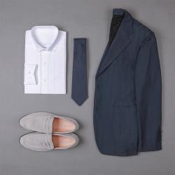 UNDERCROXX 2020新款时尚气质男士细条纹棉衬衫 6269