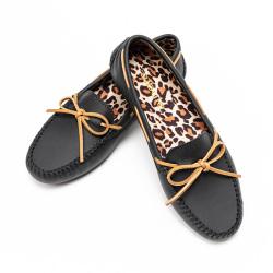 爱步乐 时尚百搭舒适休闲豹纹豆豆鞋