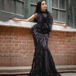 帕尔梅拉时装性感晚礼服地板长度红毯庆典风格豪华礼服 YZ20190016