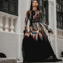 帕尔梅拉时装性感晚礼服地板长度红毯庆典风格豪华礼服 YZ20190014