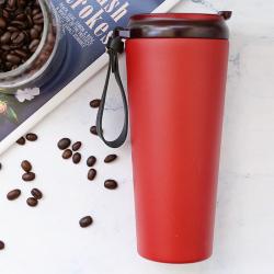 派多乐 保温便携式随行杯ins风车载随手304不锈钢简约喝水杯幸运咖啡杯