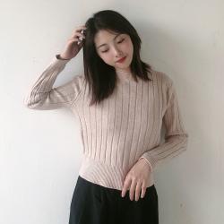 Shiyaana 2019秋冬新款ins时尚气质简约修身针织打底衫 S3069