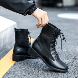 盛州ann馬丁靴女英倫風黑色帥氣ins網紅瘦瘦靴子女2019秋款短靴W9899