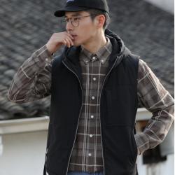 艾咕 2019秋冬季新款潮流時尚氣質男士休閑棉馬甲 2005