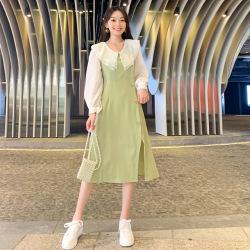 雨衫雪纺法式甜美气质娃娃领2019秋装女装新款裙子长袖网红连衣裙M330