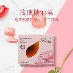 精油玫瑰手工皂90g 洁面沐浴卸妆三合一