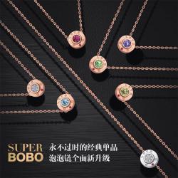 BOBO 时尚贵族18k金镶嵌钻石项链