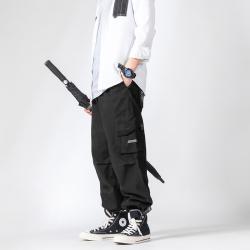 Reborn STUDIO宽松机能风袋魔术贴束脚工装裤 A8028#