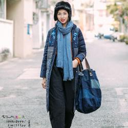 楚馨特优美 云南民族风冬装棉衣优雅新款中式刺绣拼接棉衣