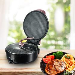 琥珀--香奈双面电饼铛(可火锅,配盖,烤架)智能触控结实耐用