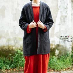 楚馨特优美 新款国风棉无扣衬衫女复古改良汉服外套 19766