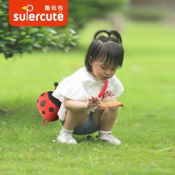 supercute瓢虫儿童斜挎包幼儿园零钱包男女宝宝可爱甲壳虫单肩包SF086
