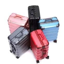 三人行 萬向輪PC加厚鋁框拉桿箱雙TSA海關鎖行李箱密碼登機箱包角旅行箱