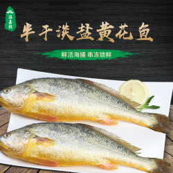 溢嘉飪醇香黃花魚寧德大黃魚咸香半干非日曬特產黃花魚