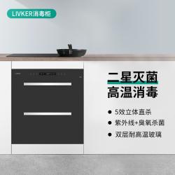 LIVKER(生活客)玻璃面板消毒柜家用5效立体双层耐高温玻璃ZTD95D-02