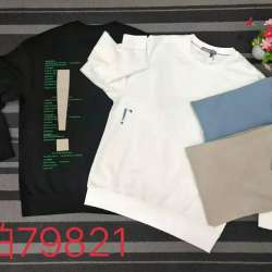 达奢 2020年春季新款时尚潮男潮流气质字母图案圆领套头卫衣
