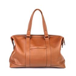 法森蓝 头层牛皮男士高档休闲旅行包行李包单肩斜挎真皮包大容量CUZ09