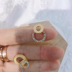 时尚个性简约高级感钻石款女耳环(925银)  yg011#  XNM