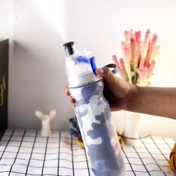 派多樂迷彩圖案PE噴霧杯水杯運動健身隨手杯