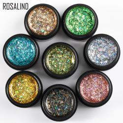 世达ROSALIND爆闪钻石胶套装 2019新色钻石亮片胶爆闪炫彩钻系甲油胶RF-8GELS-01