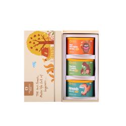 雪白仁/PureandWell轻乐坚果礼盒315g/盒(3罐装)卡通设计年轻一代聚会礼品