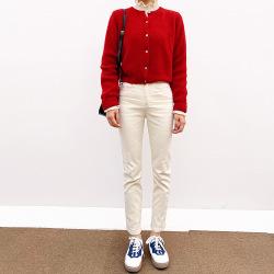 君尚韓版新版打底毛衣單排扣長袖修身網紅針織開衫女12051