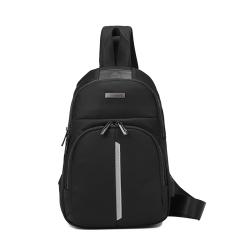 诺豹 时尚胸包男士包包单肩胸前背包小斜挎休闲包USB充电升级版