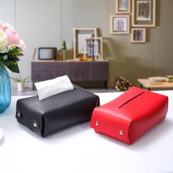 北欧ins网红抽纸盒 客厅纸巾套 软体皮质车用纸巾袋