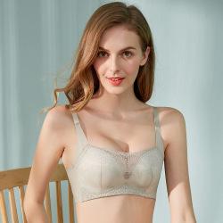 新品精美蕾丝设计无缝聚拢无磁无钢圈抹胸款文胸厂家现货批发 8367
