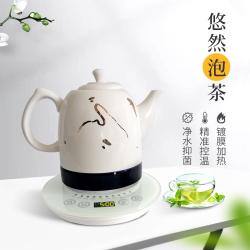 萬川好水鍍膜加熱石墨烯白陶瓷水壺 BTC-002 1.2L